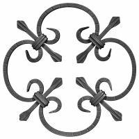 wrought iron rosette...